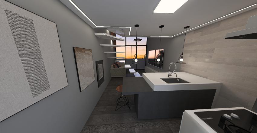 duplex pequeno  Interior Design Render