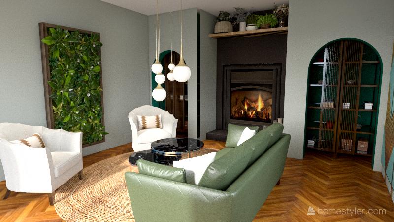 Water Home Interior Design Render