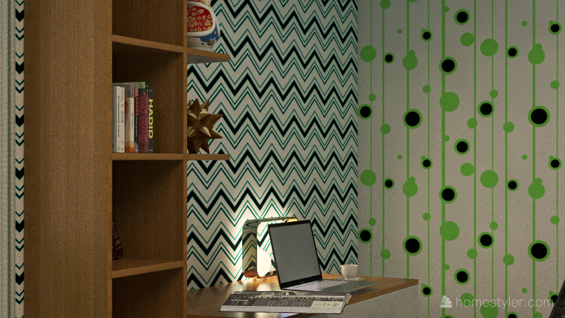 casual room Interior Design Render