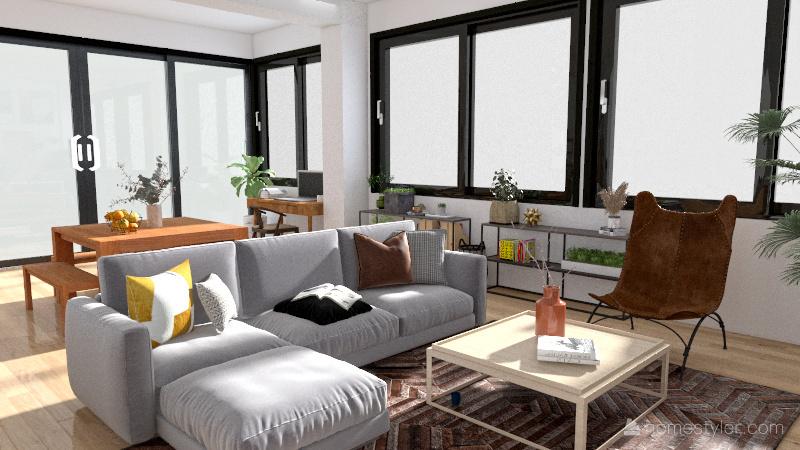 Cape Town Loft Interior Design Render
