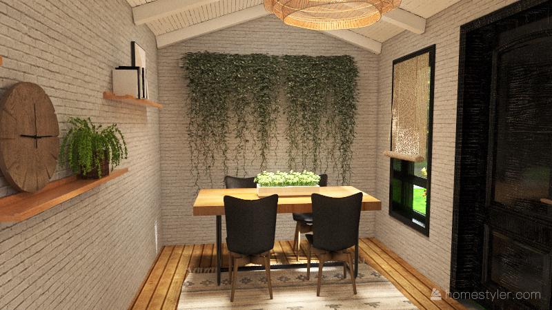 She Shed Interior Design Render