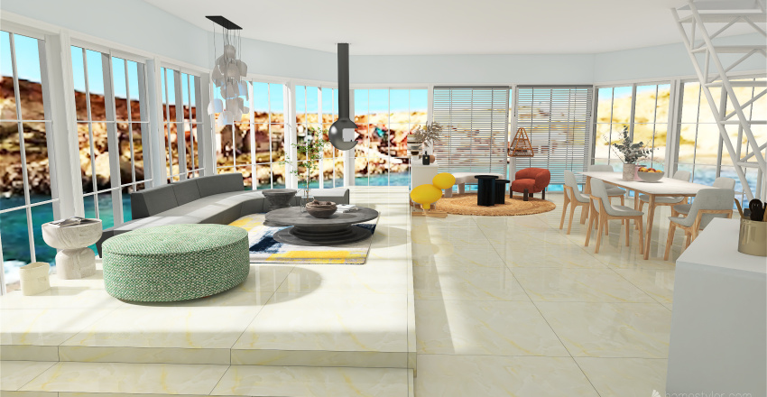 Vacaciones en Malta Interior Design Render