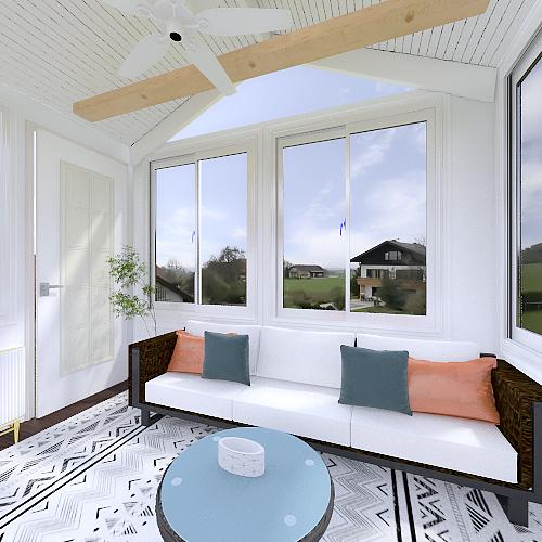Gardner Sunroom Interior Design Render