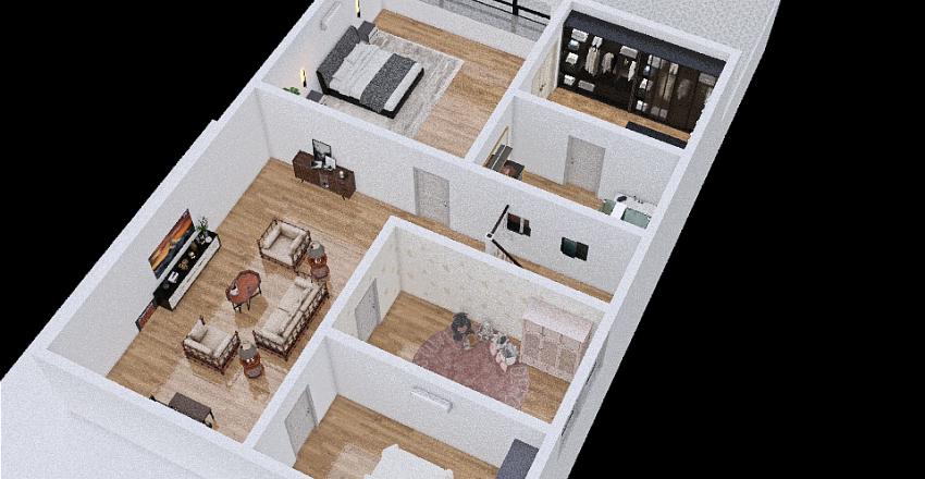 Casa Beca e Samir Interior Design Render