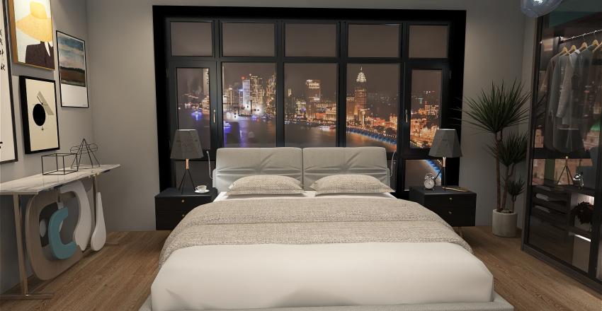 City Bedroom Interior Design Render