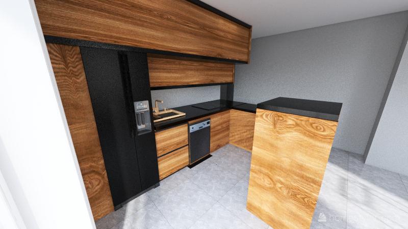 2 zmiana kuchni Interior Design Render