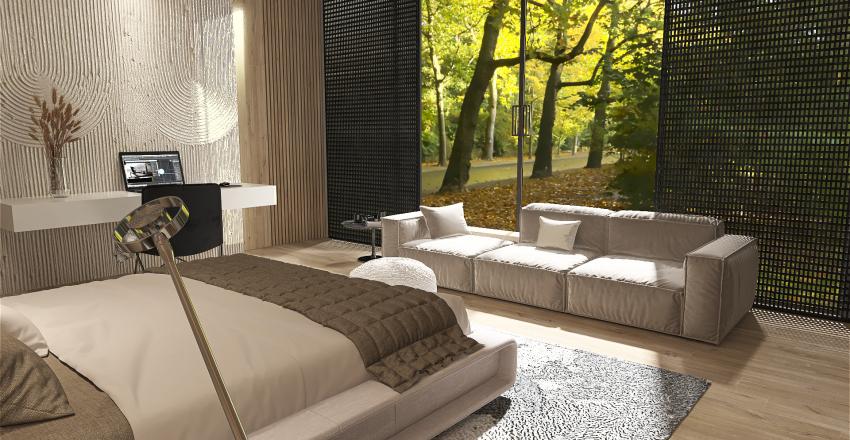 Loft en el bosque Interior Design Render