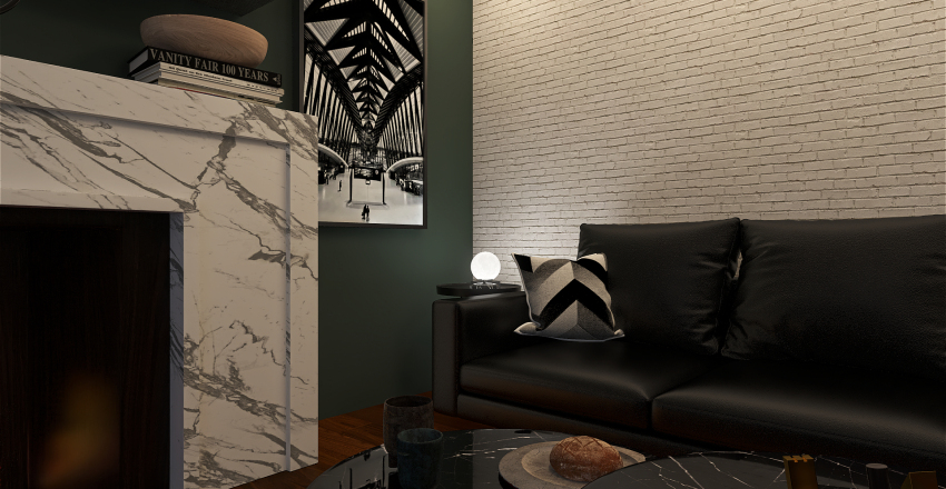 Sitting Room Interior Design Render