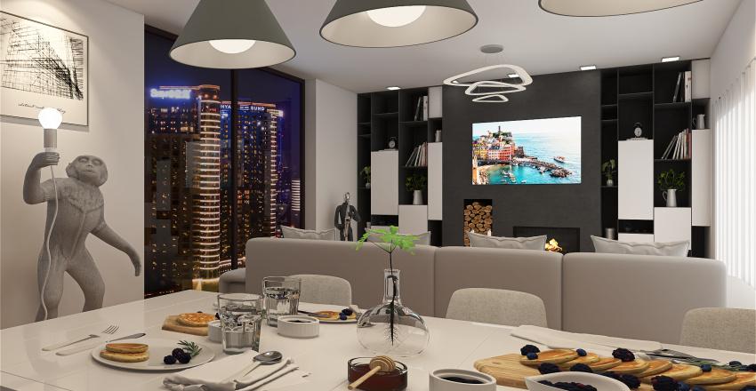 Luxury mini apartment Interior Design Render