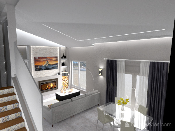 SALONE POMPA Interior Design Render