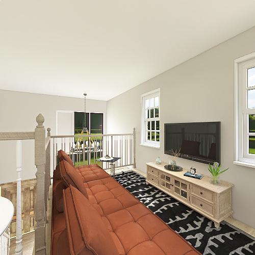 Modern Boho 2B 2B Bungalow Interior Design Render