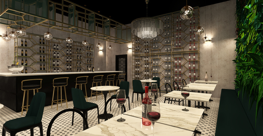 WINEbar Interior Design Render