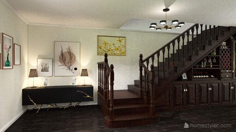 Alexi's Apartment Interior Design Render