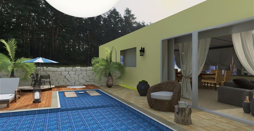 maison de campagne avec extension d' une veranda Interior Design Render