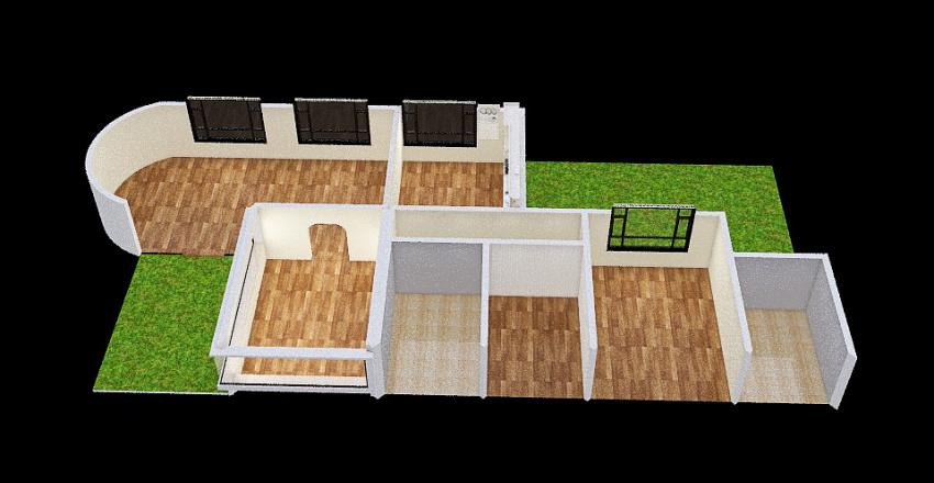 Ecología Casa Sustentable Interior Design Render