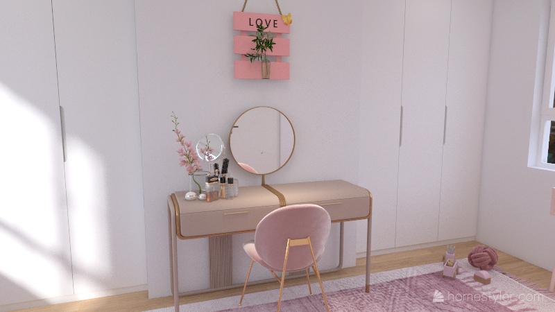 Pink vs Blue Interior Design Render
