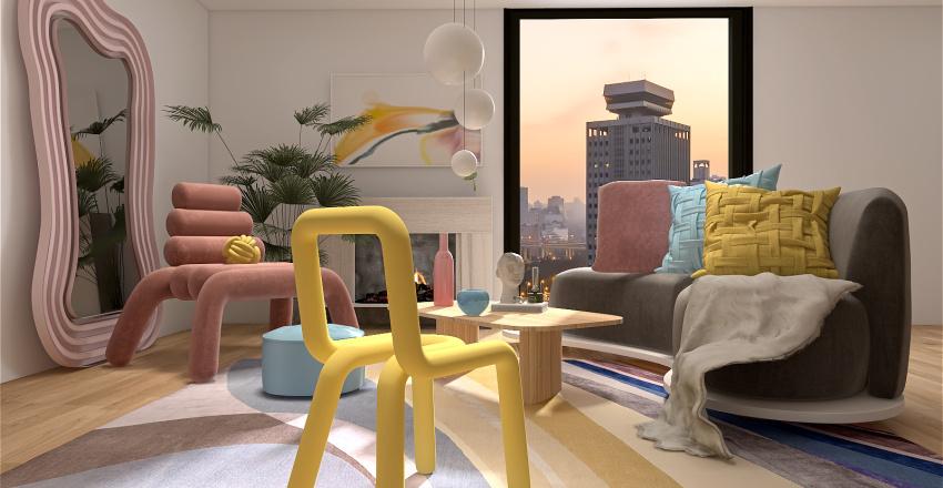 Abstract Interior Design Render