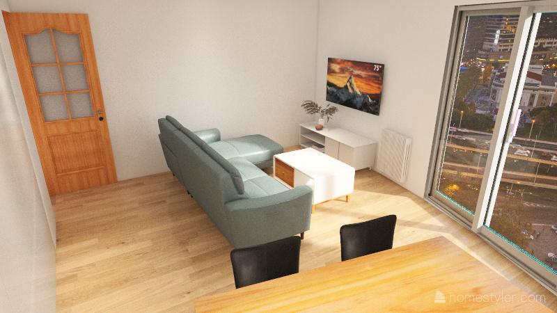 Mieszkanie Poznań Interior Design Render