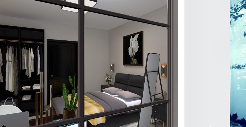 интерьер спальни Interior Design Render
