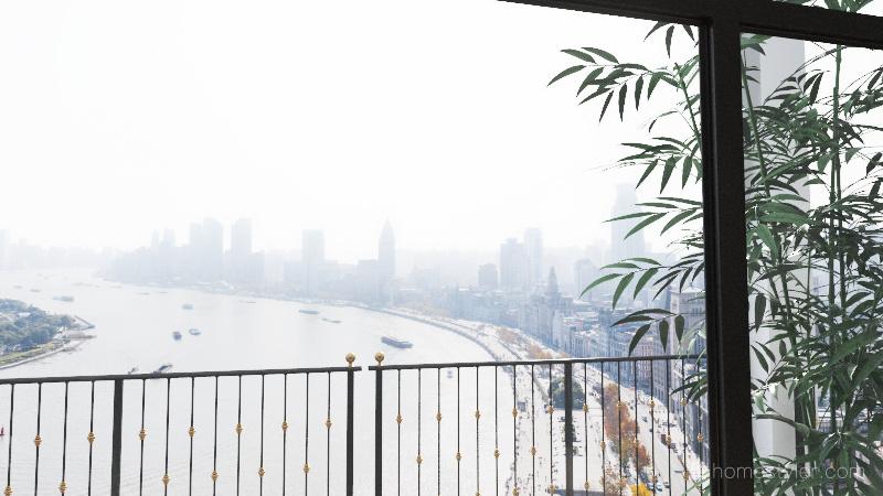 Singapore loft Interior Design Render