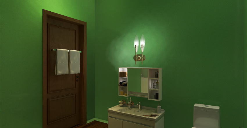 Makeover of a Bathroom Interior Design Render