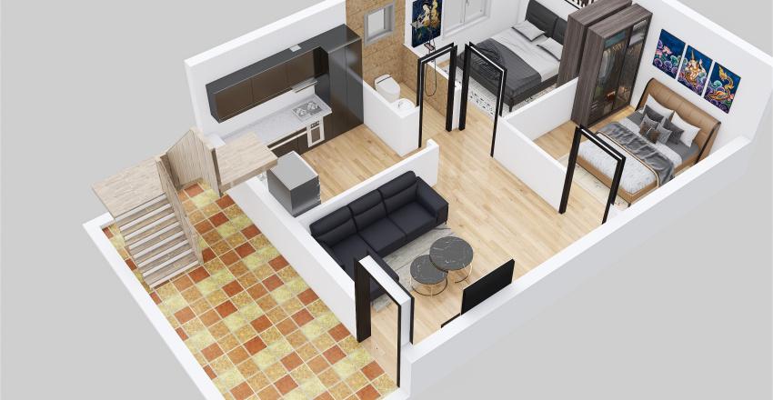 3rd 3d floor plan Interior Design Render