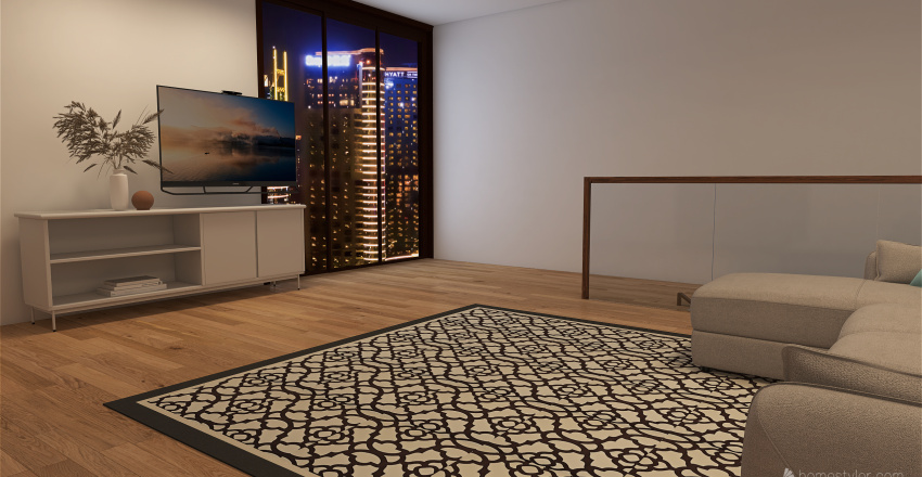 Penthouse with bunker Interior Design Render