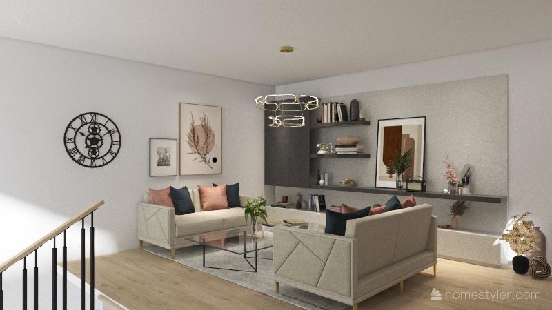 Modern hilltop house Interior Design Render