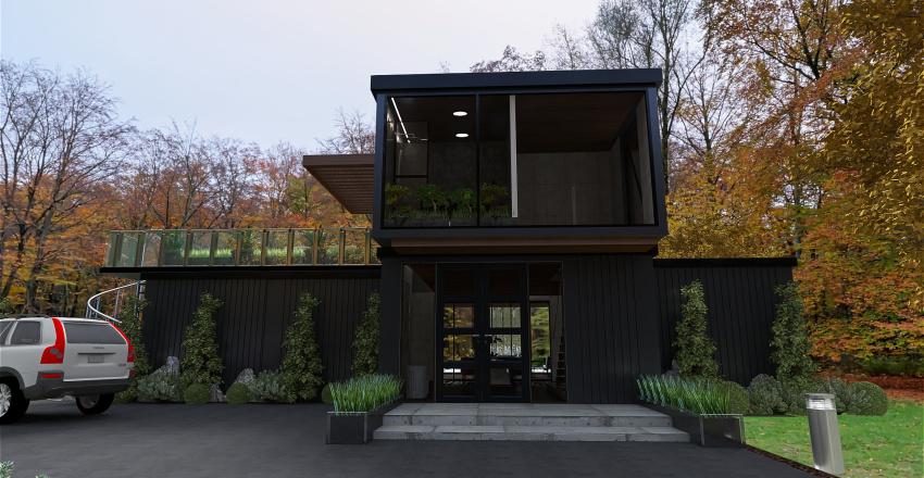Super Container Home Interior Design Render