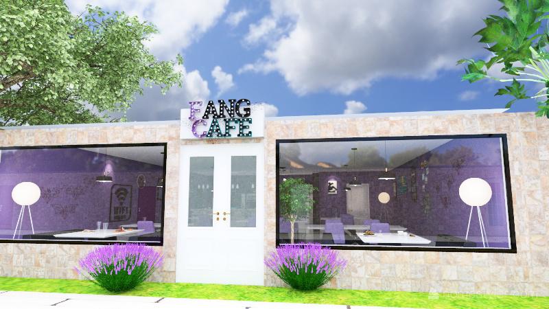 Fang Cafe Interior Design Render