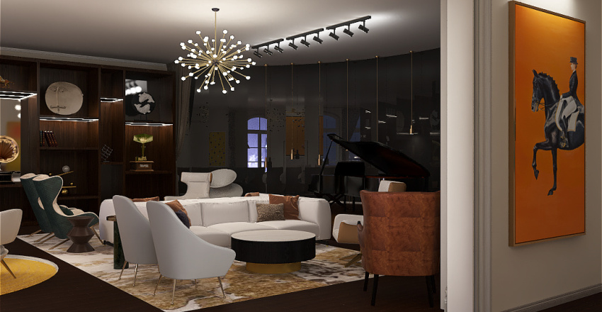 Member's Lounge Interior Design Render