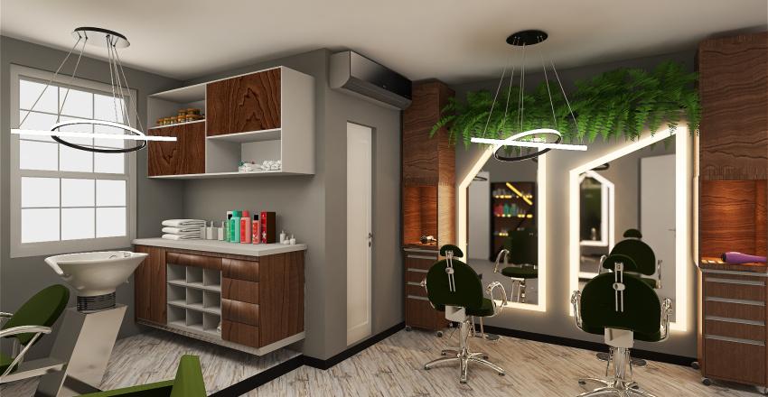 Studio de Beleza Interior Design Render