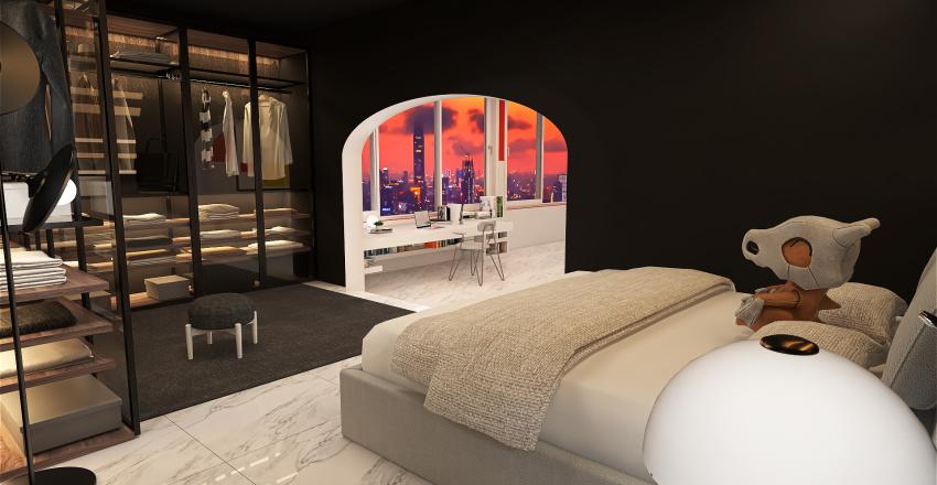 Futurist Rich Stud Interior Design Render
