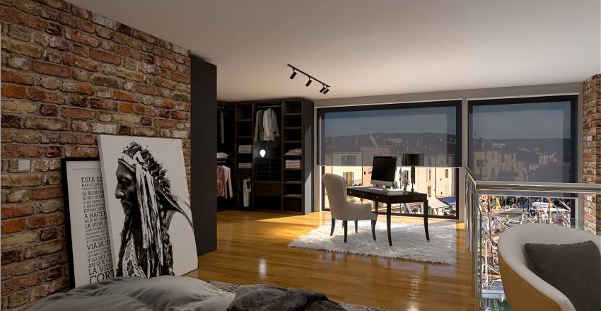 modem apartment Interior Design Render