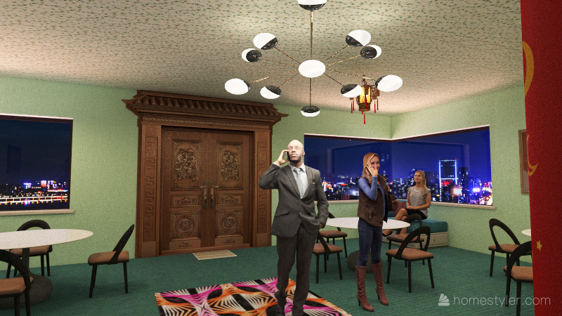 travelers lounge Interior Design Render