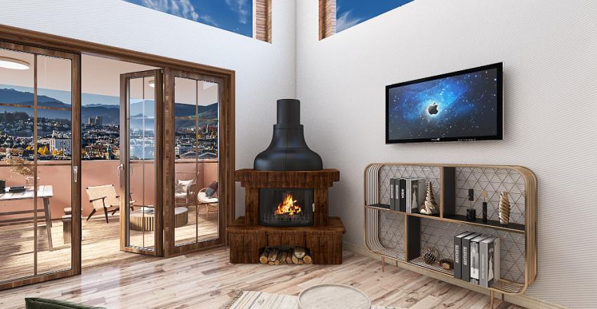 Duplex boho 2 Interior Design Render