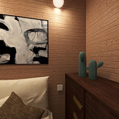 kit net aconchegante Interior Design Render