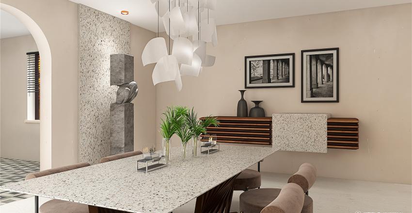 Italian with a Minimalist Vibe Interior Design Render