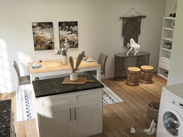 2B Townhouse Interior Design Render