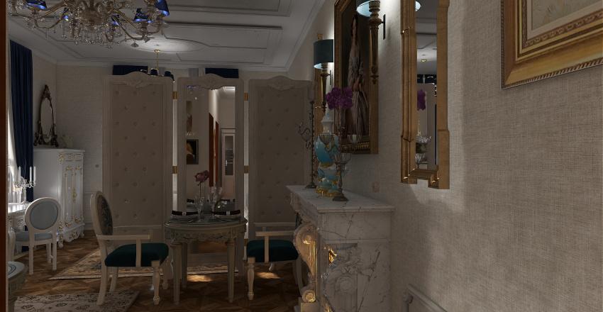 FRENCH COUNTRY STUDIO UNIT - Floor Plan Interior Design Render