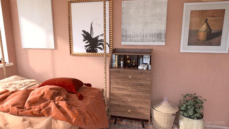 Bohemian Beach Home Interior Design Render