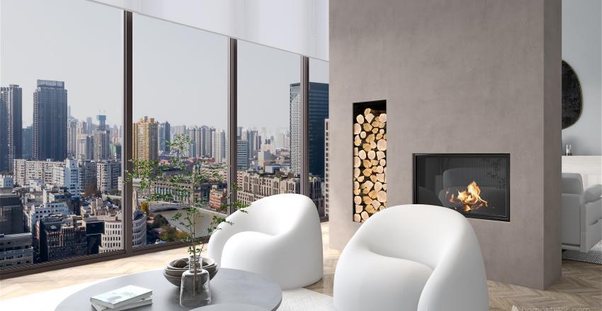 Penthouse in New York City Interior Design Render