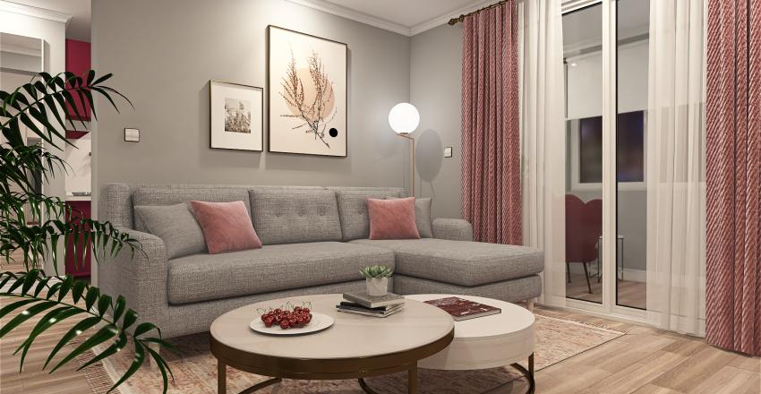 60 Sqm Interior Design Render
