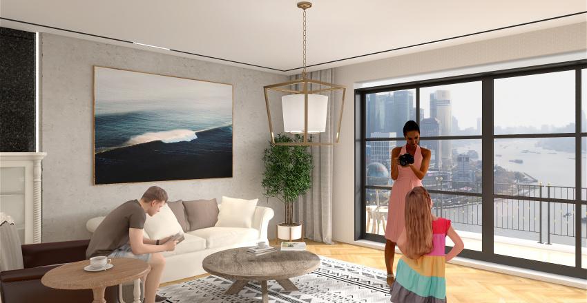 Mediterranean Apartment Interior Design Render