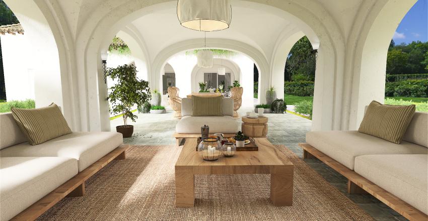 Antigua casa de campo modernizada Interior Design Render