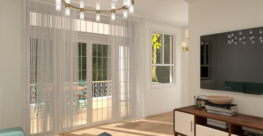 3 BHK Bungalow Interior Design Render
