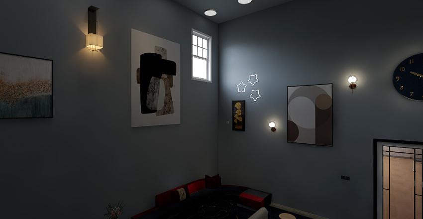 Sunroom & Rec Room Interior Design Render