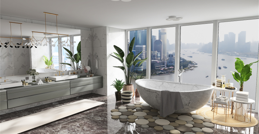 Ruth's rich bedroom Interior Design Render