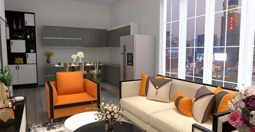 Rich modern apartment Interior Design Render