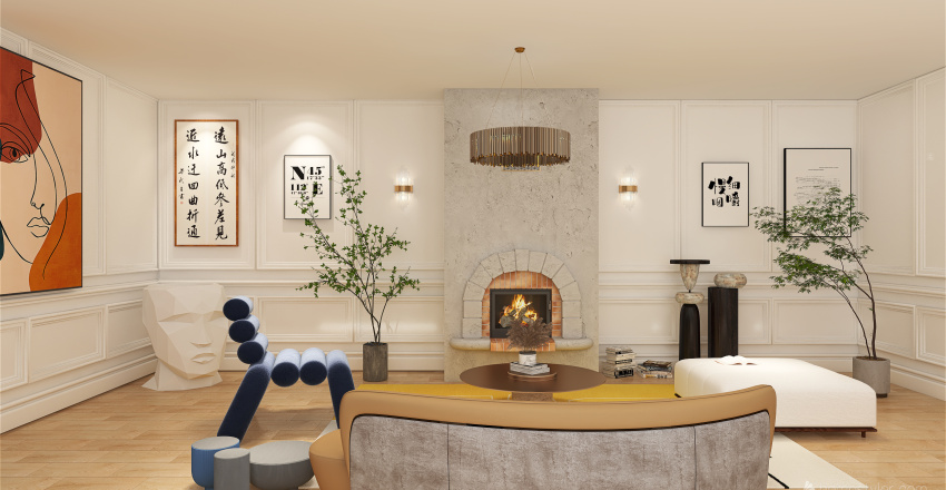 Designer room Interior Design Render